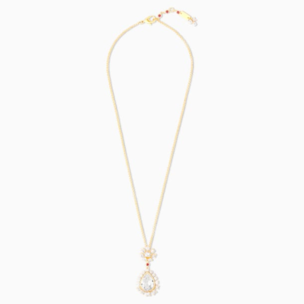 Penélope Cruz Icons of Film Pendant, White, Gold-tone plated - Swarovski, 5573957