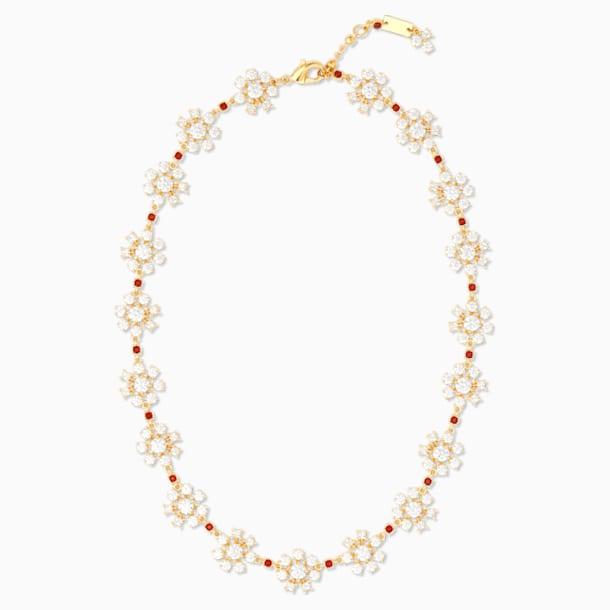 Penélope Cruz Icons of Film Flower Necklace, Red, Gold-tone plated - Swarovski, 5573959