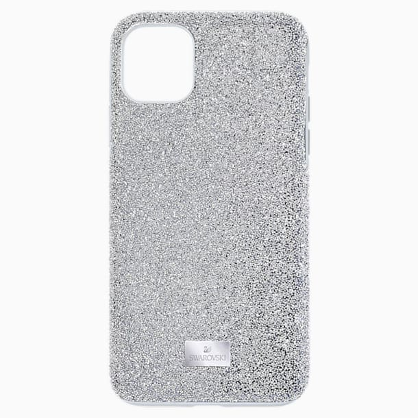 High Smartphone case, iPhone® 12 mini, Silver tone - Swarovski, 5574042