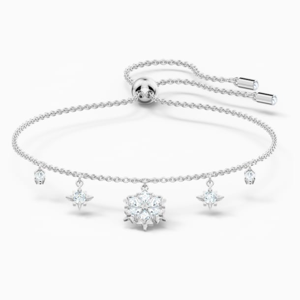 Magic Bracelet, White, Rhodium plated - Swarovski, 5576695