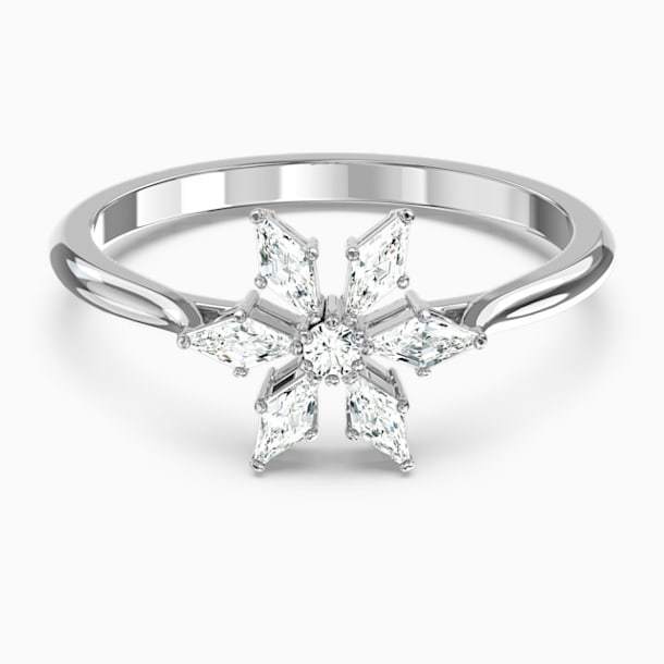 Magic Ring, White, Rhodium plated - Swarovski, 5578445