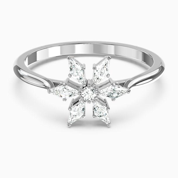 Prsten Magic, bílý, rhodiovaný - Swarovski, 5578445
