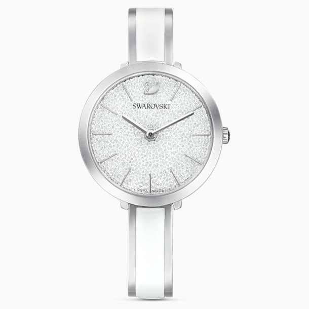 Crystalline Delight Saat, Metal bileklik, Beyaz, Paslanmaz çelik - Swarovski, 5580537