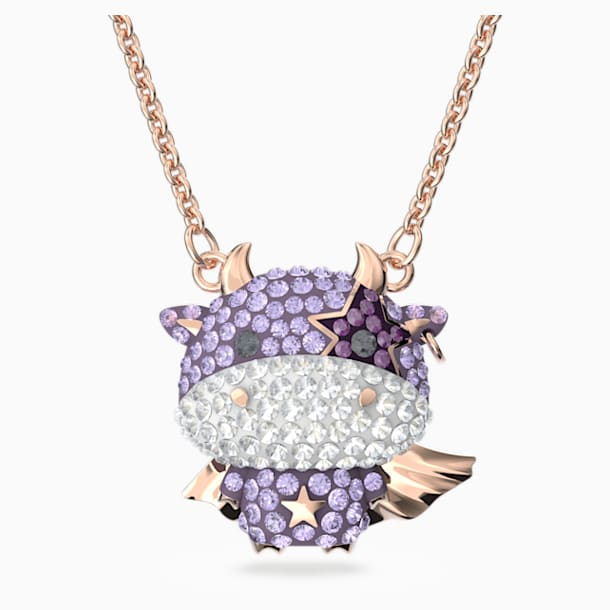 Little Pendant, Violet, Rose-gold tone plated - Swarovski, 5599162