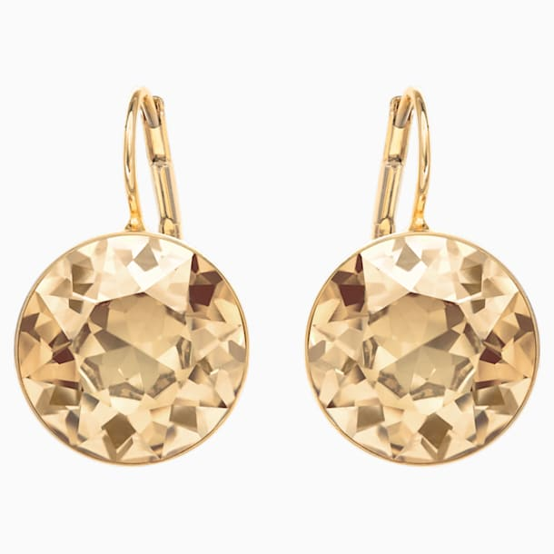 Bella Pierced Earrings, Gold tone, Gold-tone plated - Swarovski, 901640