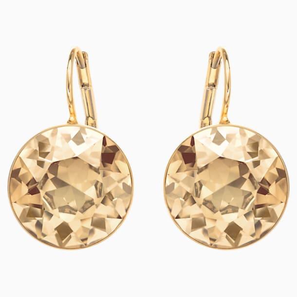 Bella Pierced Earrings, Gold tone, Gold-tone plated - Swarovski, 901640