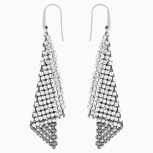 Fit Pierced Earrings, Grey, Rhodium plated - Swarovski, 976061