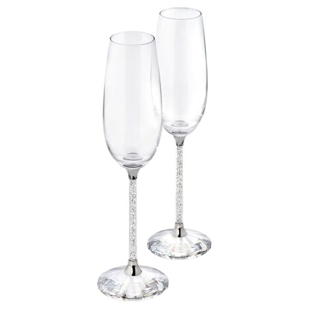 Κολωνάτα ποτήρια σαμπάνιας Crystalline (Σετ 2 κομματιών) - Swarovski, 255678