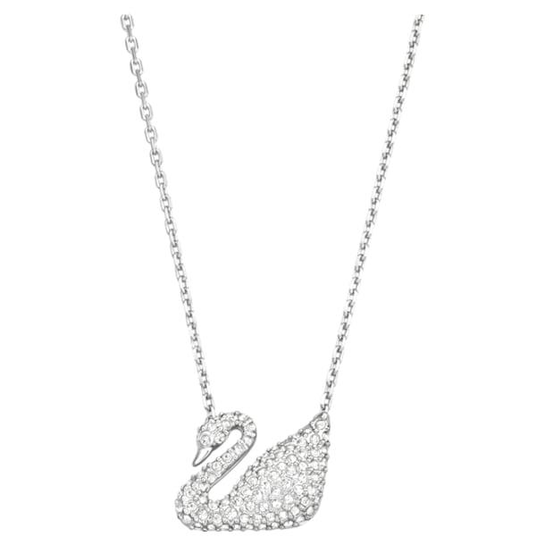 Swan Колье, Лебедь, Белый кристалл, Родиевое покрытие - Swarovski, 5007735