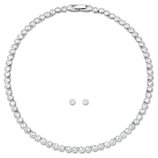 Tennis Комплект, Белый Кристалл, Родиевое покрытие - Swarovski, 5007747