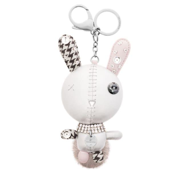 Mathilde bag charm, Rabbit, Gray, Stainless steel - Swarovski, 5020921