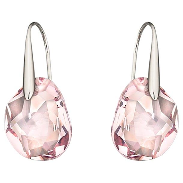 Galet Pierced Earrings, Pink, Rhodium plated - Swarovski, 5023083