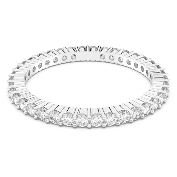 Vittore ring, White, Rhodium plated - Swarovski, 5028227