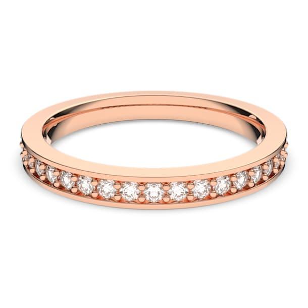 Prsten Rare, Bílá, Pokoveno v růžovozlatém odstínu - Swarovski, 5032899