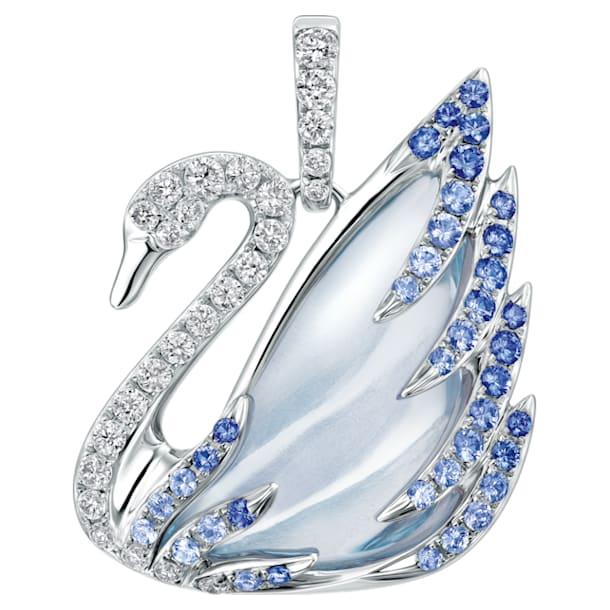 瑰丽天鹅18K金粉蓝托帕石蓝宝石钻石链坠 - Swarovski, 5036321