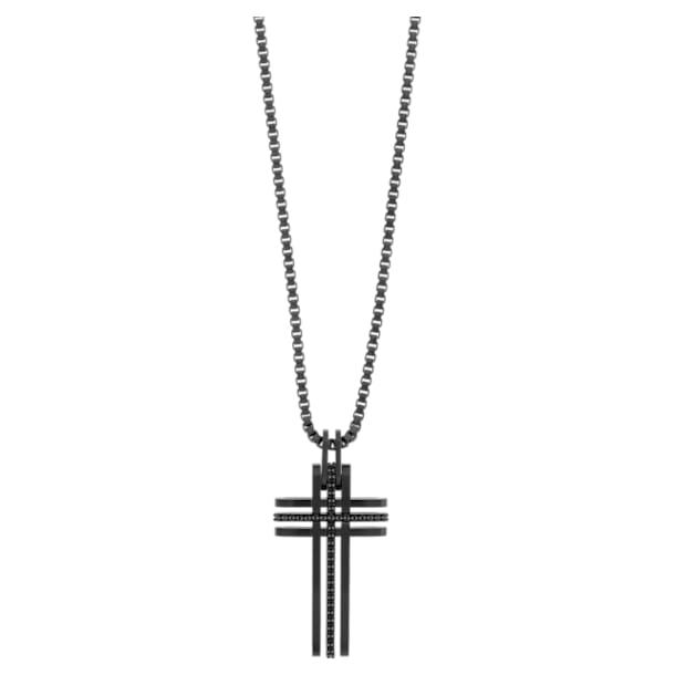 Wisiorek z krzyżem Bengal, czarny, czarna powłoka PVD - Swarovski, 5070473