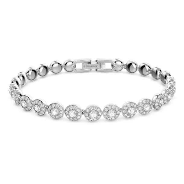 Angelic bracelet, Round, White, Rhodium plated - Swarovski, 5071173