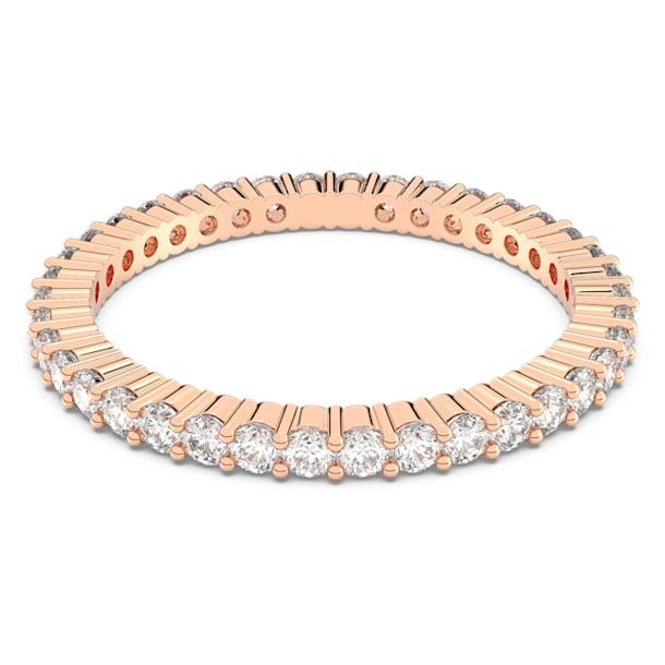 Prsten Vittore, Bílá, Pokoveno v růžovozlatém odstínu - Swarovski, 5095327
