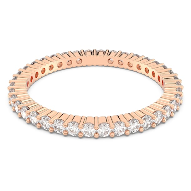 Vittore ring, White, Rose gold-tone plated - Swarovski, 5095328