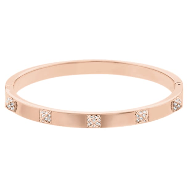 Tactic bangle, White, Rose gold-tone plated - Swarovski, 5098834