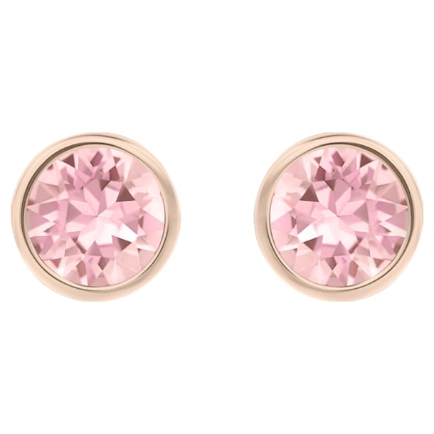 스와로브스키 귀걸이 Swarovski Solitaire Pierced Earrings, Pink, Rose-gold tone plated