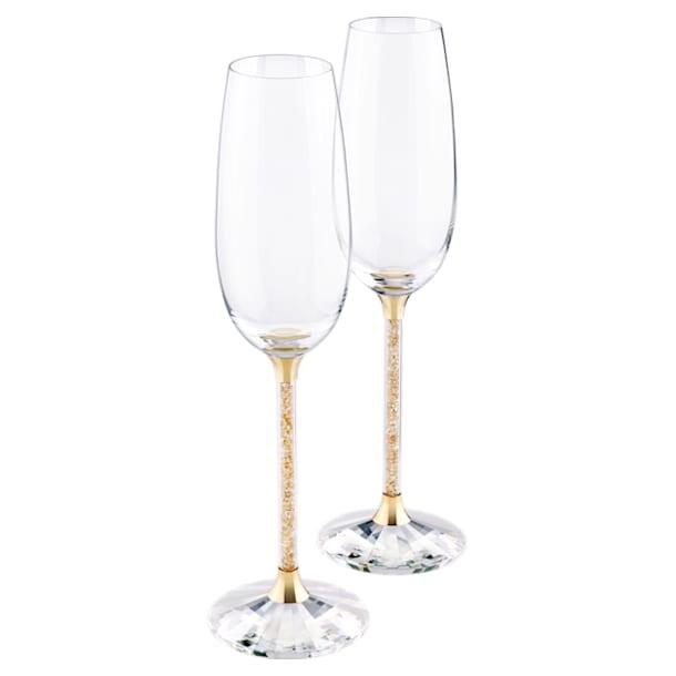 Crystalline pezsgős pohár szett, arany árnyalat (2 db) - Swarovski, 5102143