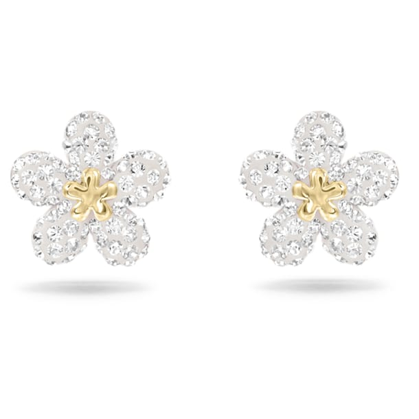 Tough Earrings, White, Mixed metal finish - Swarovski, 5136838