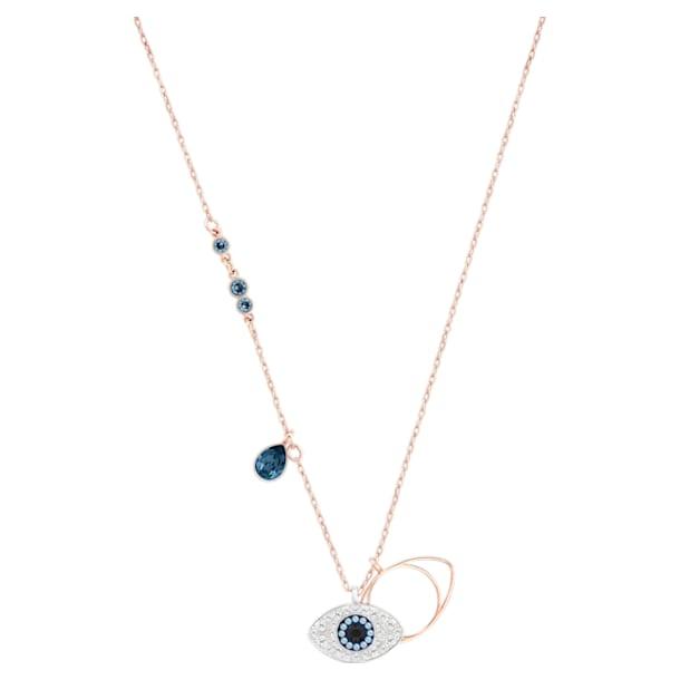 Swarovski Symbolic pendant, Evil eye, Blue, Mixed metal finish - Swarovski, 5172560
