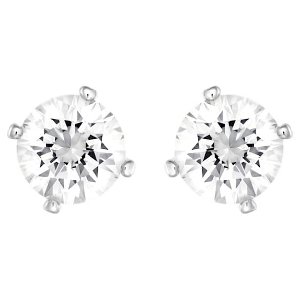 Boucles d'oreilles Angelic, blanc, Métal rhodié - Swarovski, 5183618