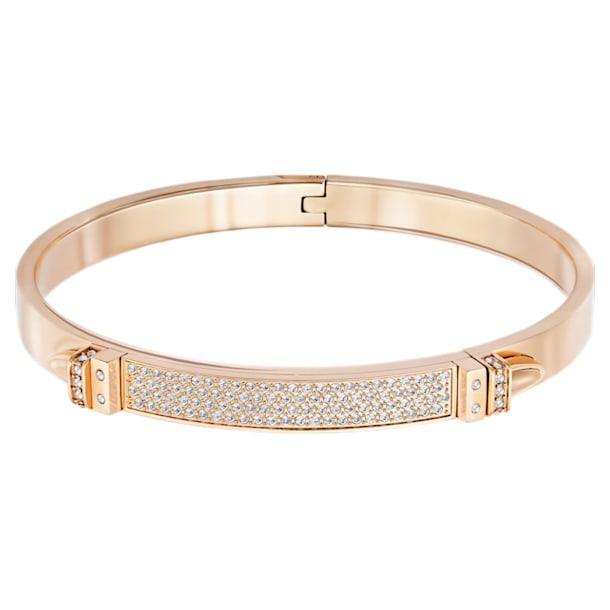 Bracelet-jonc Distinct, blanc, Métal doré rose - Swarovski, 5184155