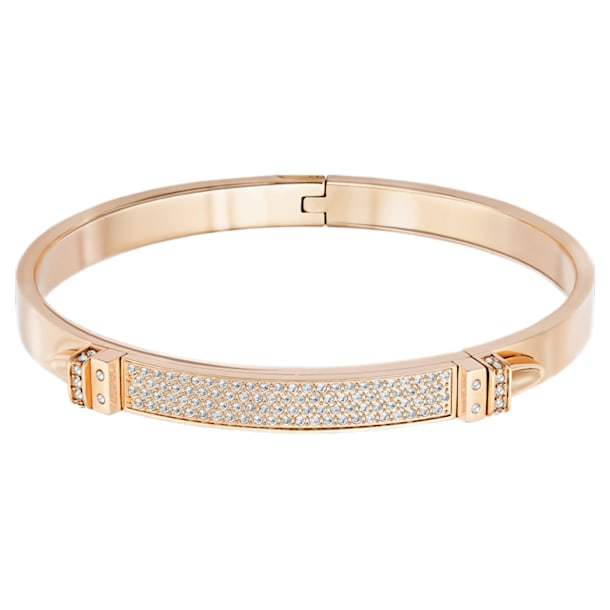 Distinct Bangle, White, Rose-gold tone plated - Swarovski, 5184155