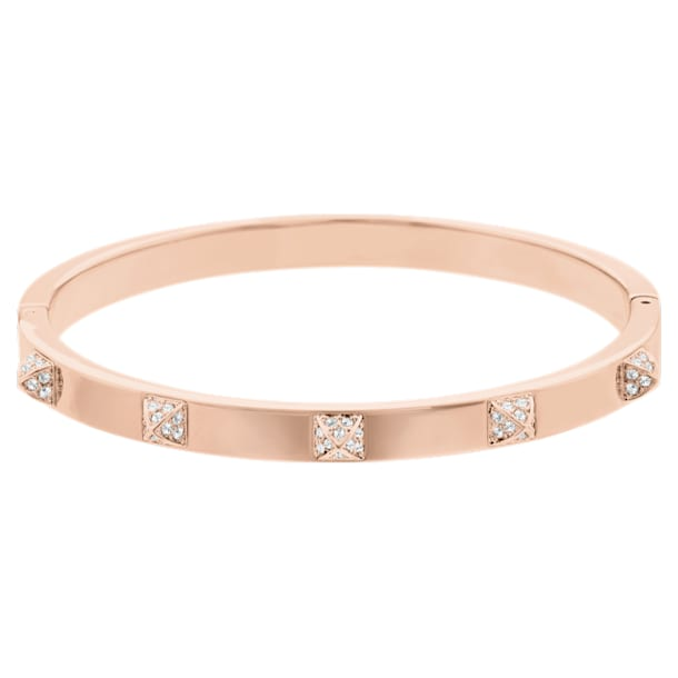 Tactic Bangle, White, Rose-gold tone plated - Swarovski, 5184528