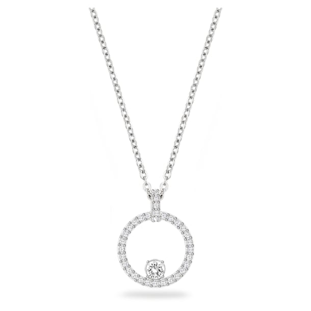 Pendente Creativity Circle, bianco, Placcatura rodio - Swarovski, 5198686