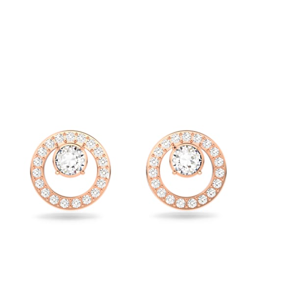 Creativity Circle Серьги, Белый Кристалл, Покрытие оттенка розового золота - Swarovski, 5199827