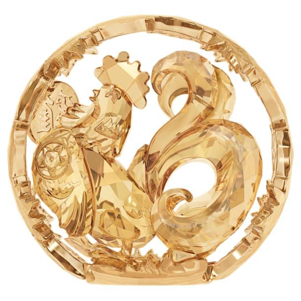 Chinesisches Sternzeichen – Hahn, goldfarben - Swarovski, 5213550