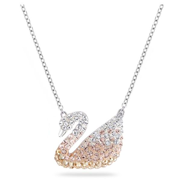 Swarovski Iconic Swan Подвеска, Лебедь, Кремовый кристалл, Родиевое покрытие - Swarovski, 5215034