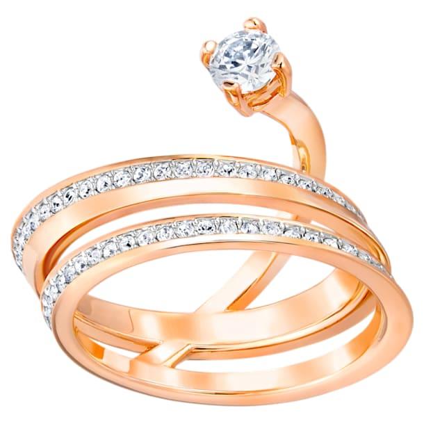 Fresh Ring, Medium, White, Rose-gold tone plated - Swarovski, 5217723