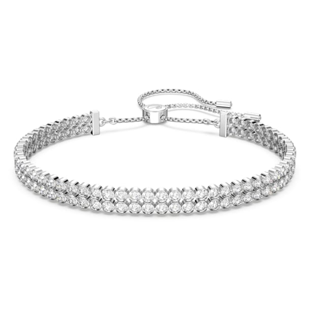 Subtle Bracelet, White, Rhodium plated - Swarovski, 5221397