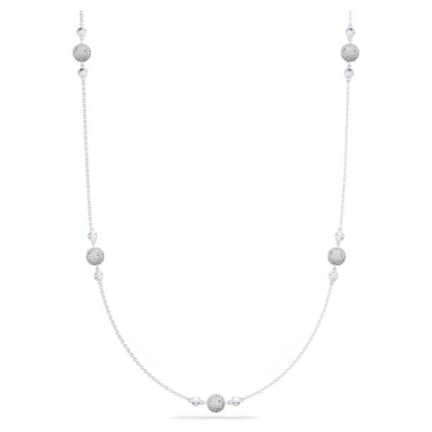 Entire ネックレス, ホワイト, ロジウム・コーティング - Swarovski, 5225221