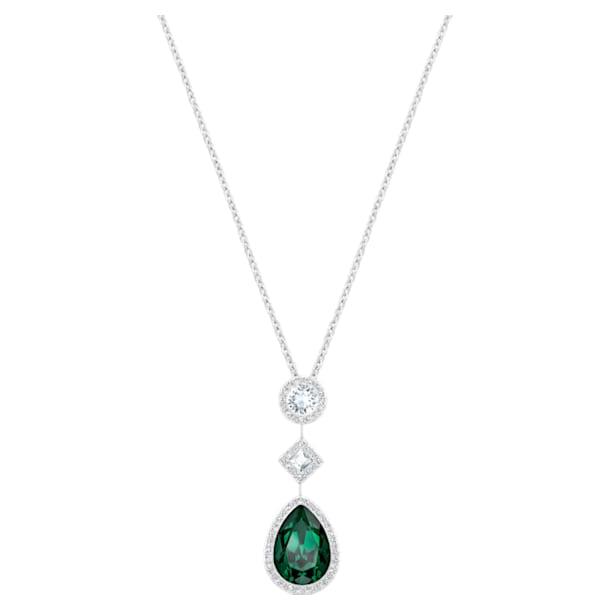 Fluo Pendant, Green, Rhodium plated - Swarovski, 5231185