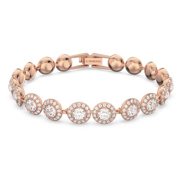 Angelic armband , Round, Wit, Roségoudkleurige toplaag - Swarovski, 5240513
