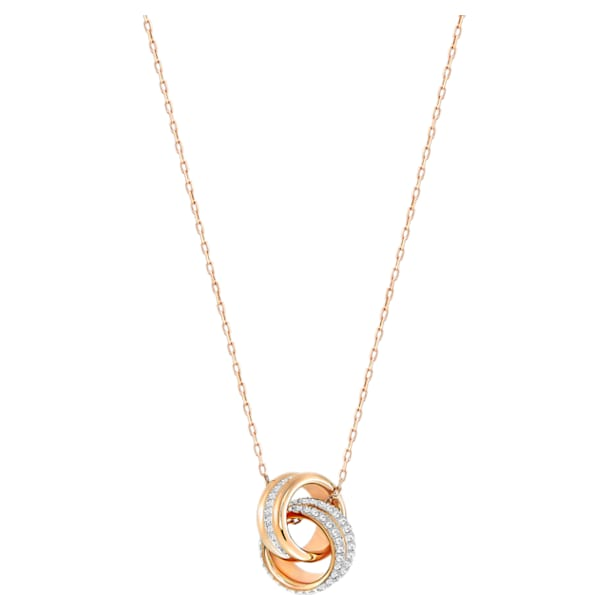Further Pendant, White, Rose-gold tone plated - Swarovski, 5240525