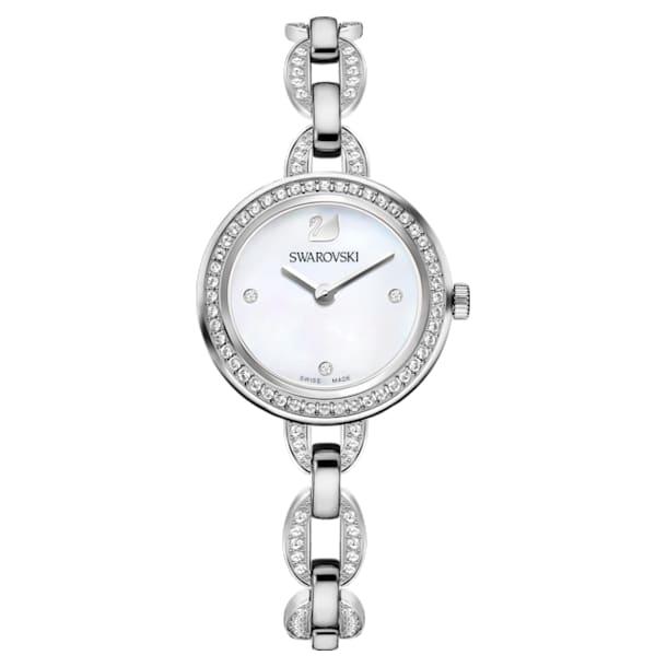 Aila Mini Watch, Metal bracelet, Stainless steel - Swarovski, 5253332