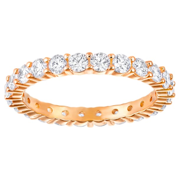 Vittore XL Ring, White, Rose-gold tone plated - Swarovski, 5257492