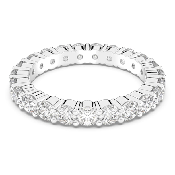 Vittore XL ring, White, Rhodium plated - Swarovski, 5257516