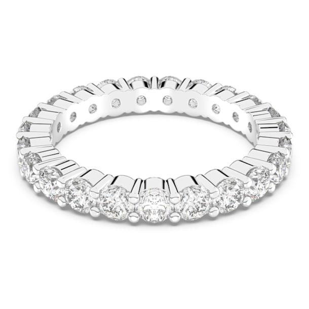 Vittore XL ring, Wit, Rodium toplaag - Swarovski, 5257516