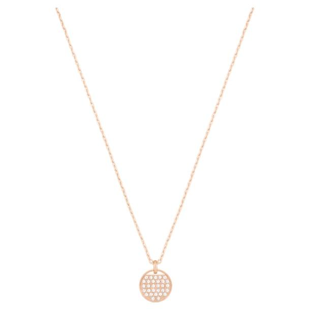 Ginger pendant, White, Rose gold-tone plated - Swarovski, 5265913