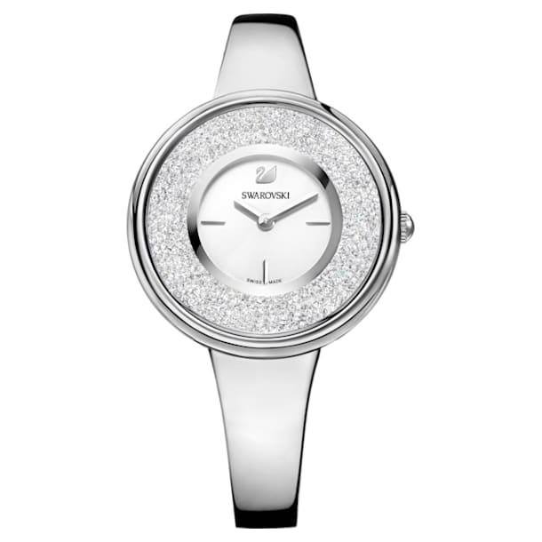 Crystalline Pure Watch, Metal bracelet, White, Stainless steel - Swarovski, 5269256