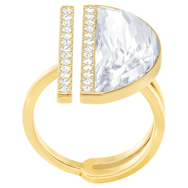 Glow Ring, White, Gold-tone plated - Swarovski, 5284091
