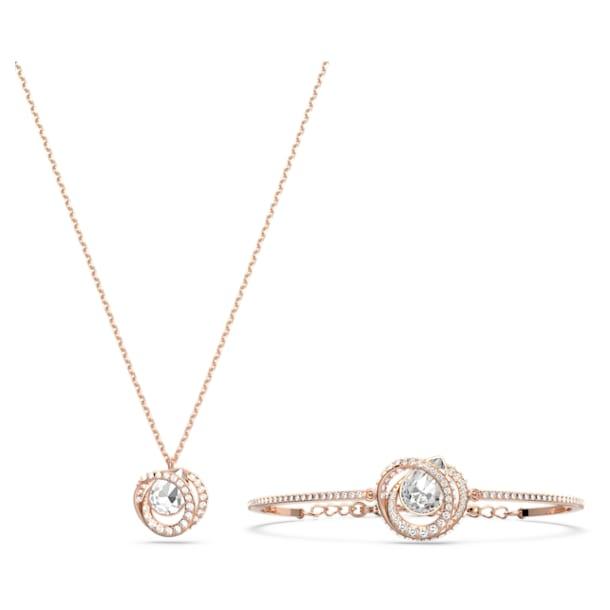Generation set, White, Rose gold-tone plated - Swarovski, 5290681